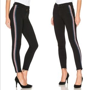 [NWT] MOTHER The Looker Glitter Stripe Jeans